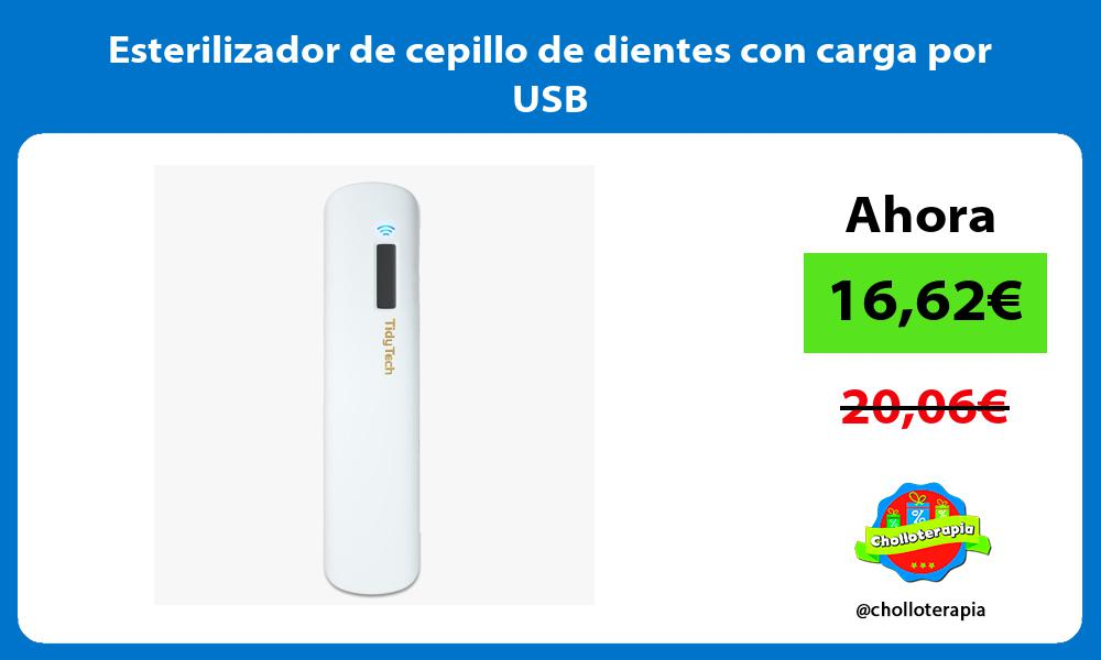 Esterilizador de cepillo de dientes con carga por USB
