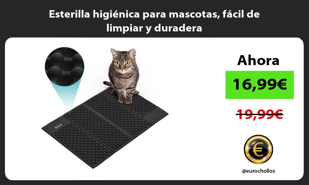 Esterilla higiénica para mascotas fácil de limpiar y duradera