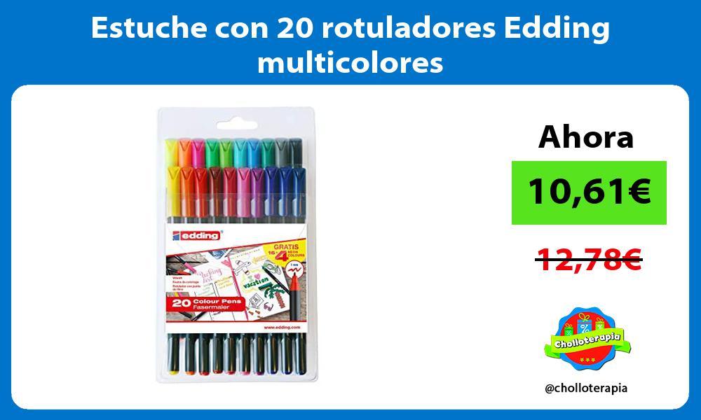 Estuche con 20 rotuladores Edding multicolores