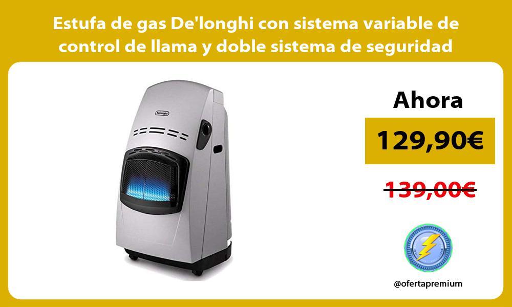 Estufa de gas Delonghi con sistema variable de control de llama y doble sistema de seguridad