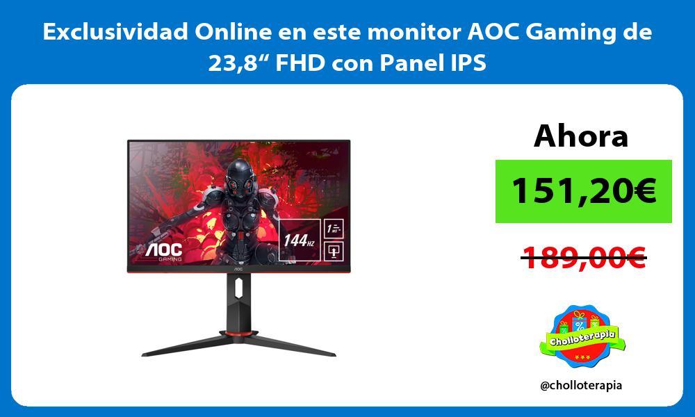 """Exclusividad Online en este monitor AOC Gaming de 238"""" FHD con Panel IPS"""