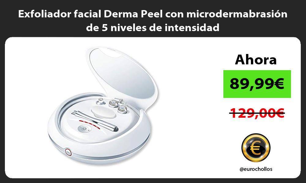 Exfoliador facial Derma Peel con microdermabrasión de 5 niveles de intensidad