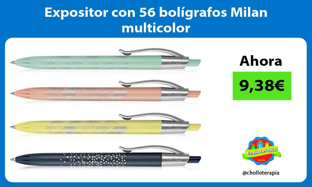 Expositor con 56 bolígrafos Milan multicolor