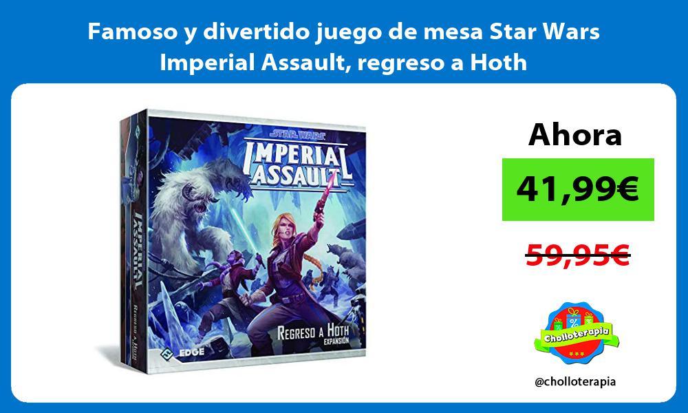 Famoso y divertido juego de mesa Star Wars Imperial Assault regreso a Hoth