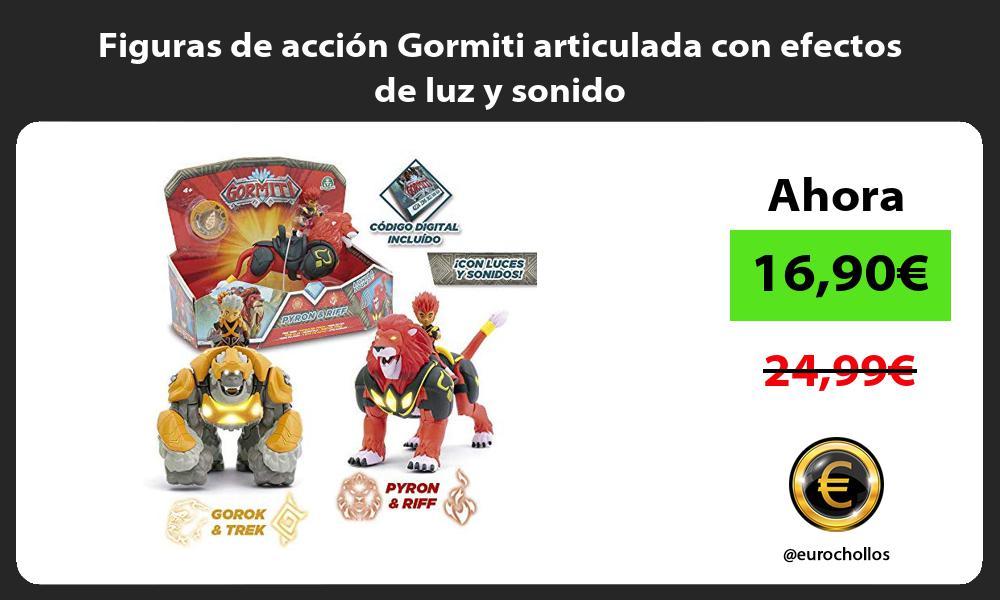 Figuras de acción Gormiti articulada con efectos de luz y sonido