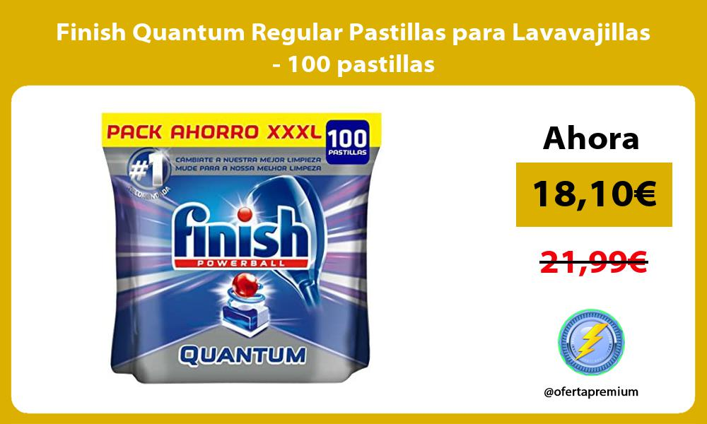 Finish Quantum Regular Pastillas para Lavavajillas 100 pastillas