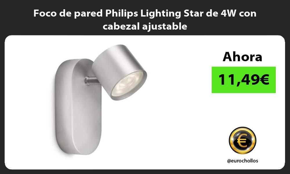 Foco de pared Philips Lighting Star de 4W con cabezal ajustable