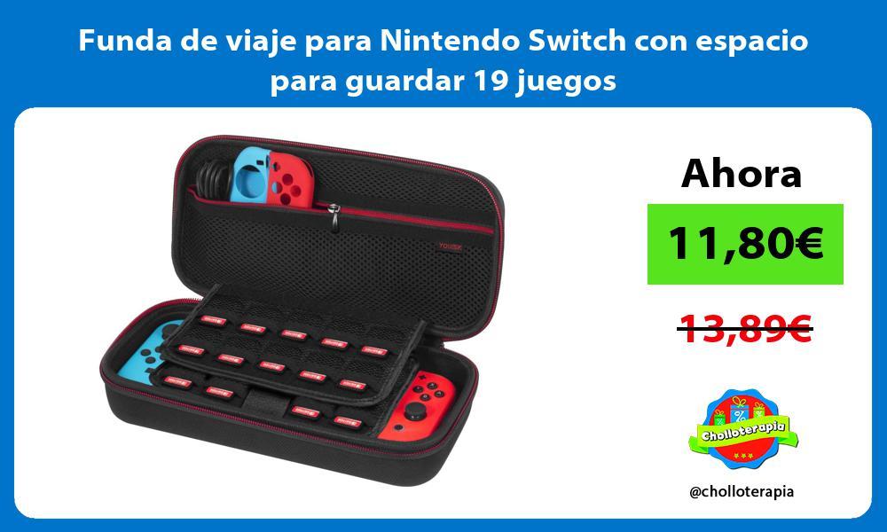 Funda de viaje para Nintendo Switch con espacio para guardar 19 juegos