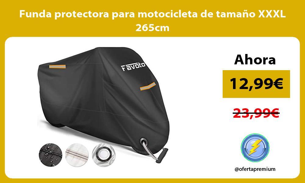 Funda protectora para motocicleta de tamaño XXXL 265cm