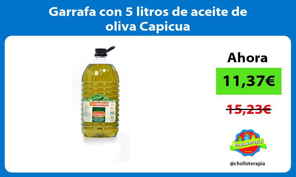 Garrafa con 5 litros de aceite de oliva Capicua