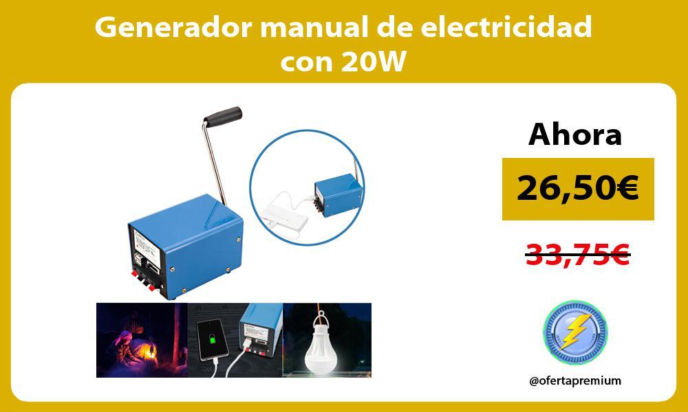 Generador manual de electricidad con 20W