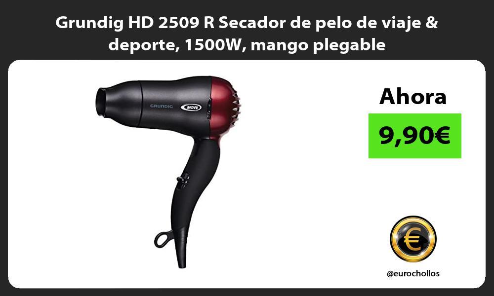 Grundig HD 2509 R Secador de pelo de viaje deporte 1500W mango plegable
