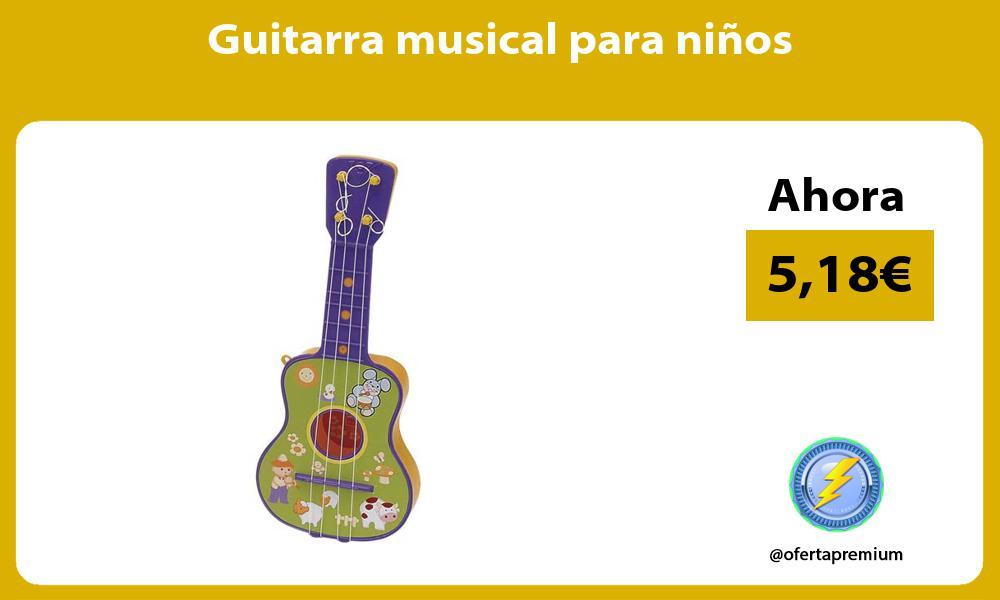 Guitarra musical para niños