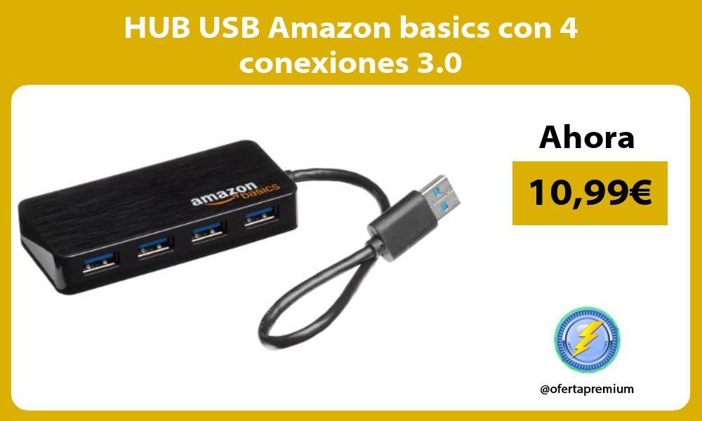HUB USB Amazon basics con 4 conexiones 3 0