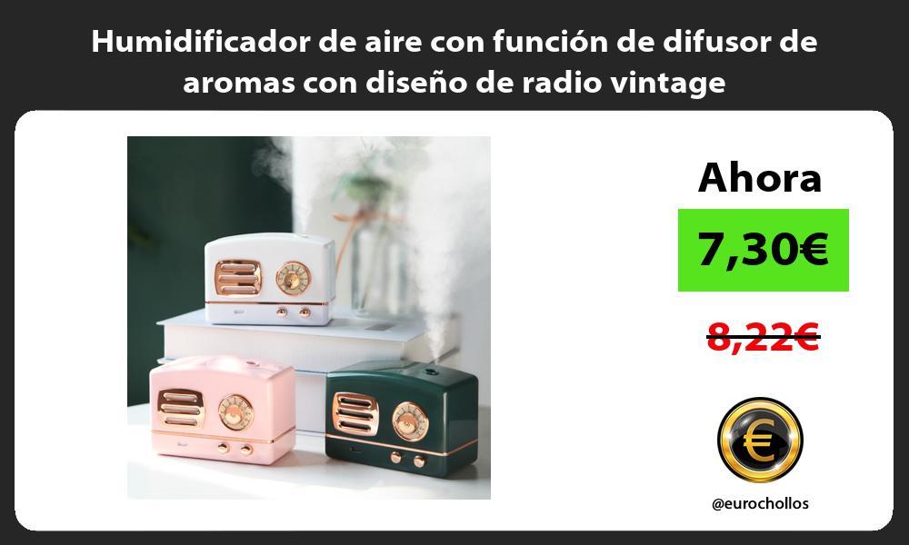Humidificador de aire con función de difusor de aromas con diseño de radio vintage