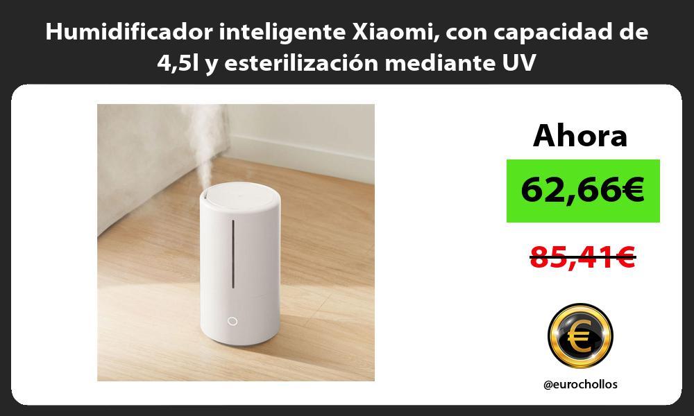 Humidificador inteligente Xiaomi con capacidad de 45l y esterilización mediante UV