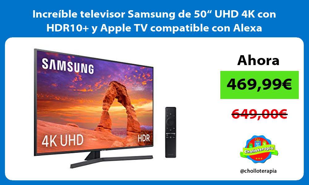 """Increíble televisor Samsung de 50"""" UHD 4K con HDR10 y Apple TV compatible con Alexa"""