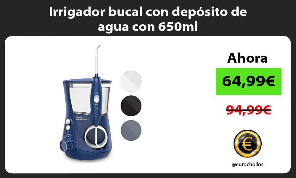 Irrigador bucal con depósito de agua con 650ml