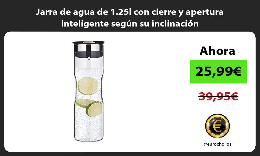 Jarra de agua de 1 25l con cierre y apertura inteligente según su inclinación