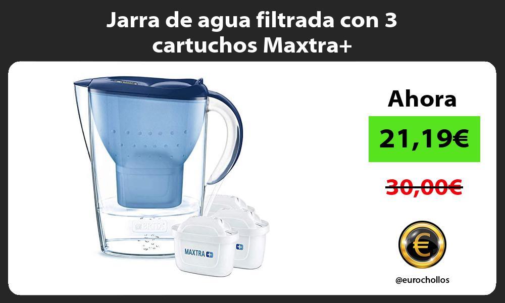 Jarra de agua filtrada con 3 cartuchos Maxtra