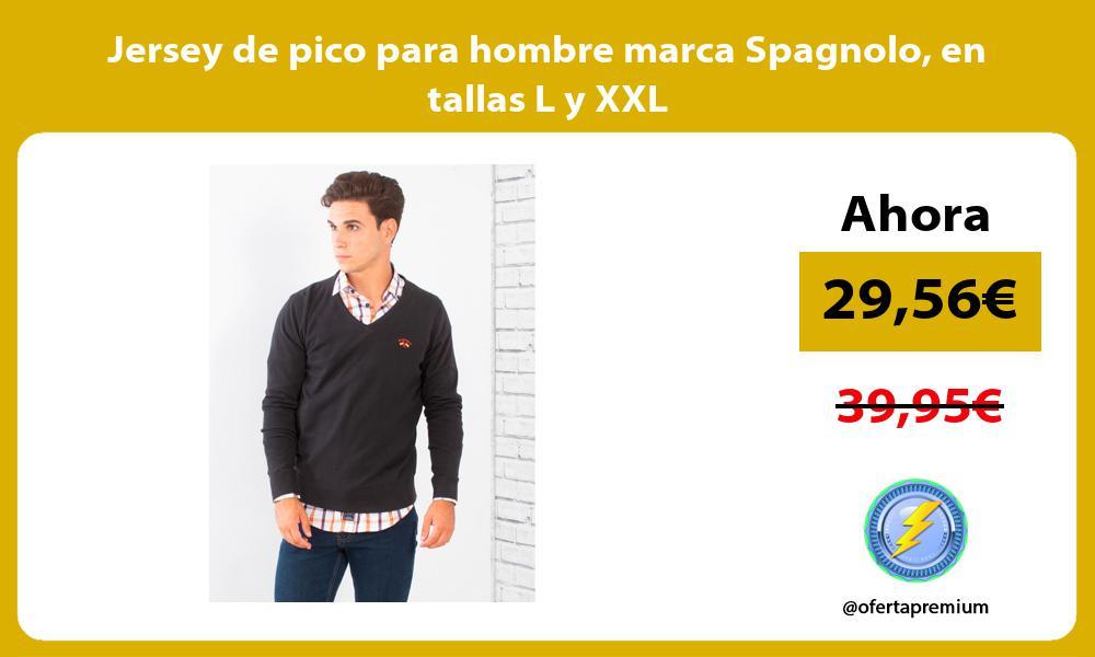 Jersey de pico para hombre marca Spagnolo en tallas L y XXL