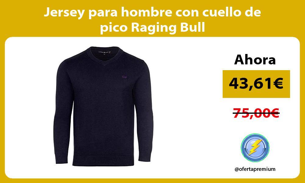 Jersey para hombre con cuello de pico Raging Bull