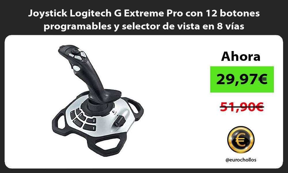 Joystick Logitech G Extreme Pro con 12 botones programables y selector de vista en 8 vías