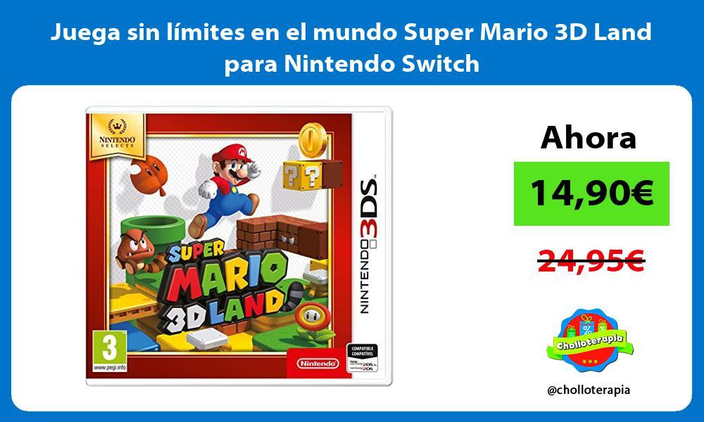Juega sin límites en el mundo Super Mario 3D Land para Nintendo Switch