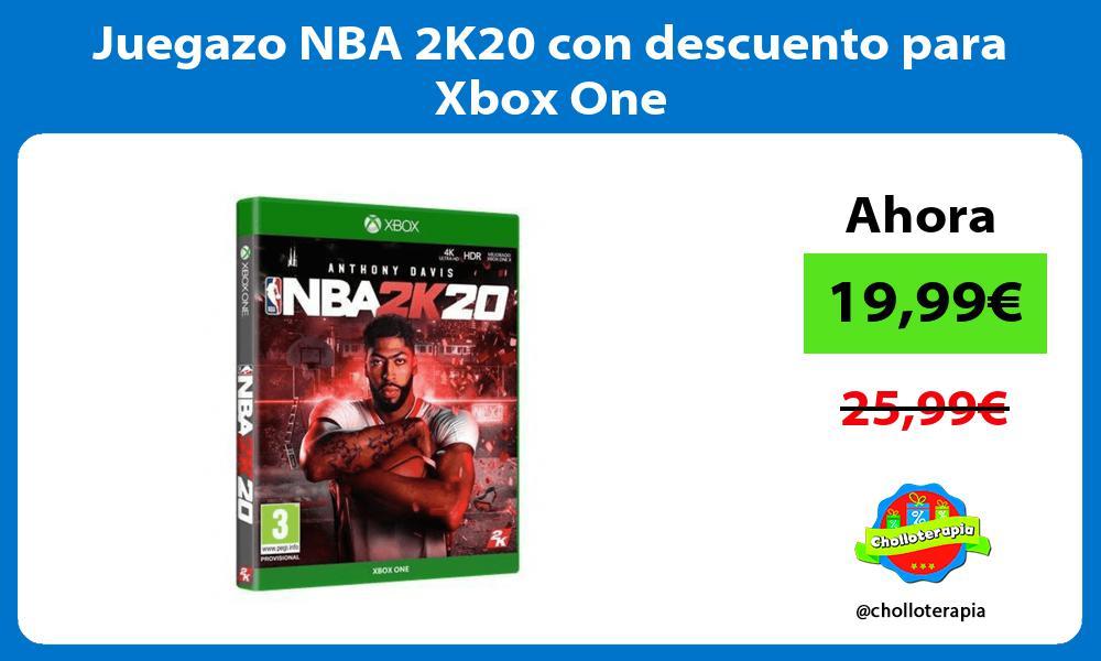 Juegazo NBA 2K20 con descuento para Xbox One