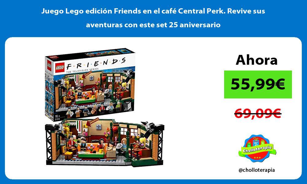 Juego Lego edición Friends en el café Central Perk Revive sus aventuras con este set 25 aniversario