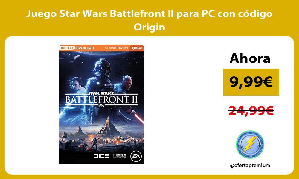 Juego Star Wars Battlefront II para PC con código Origin