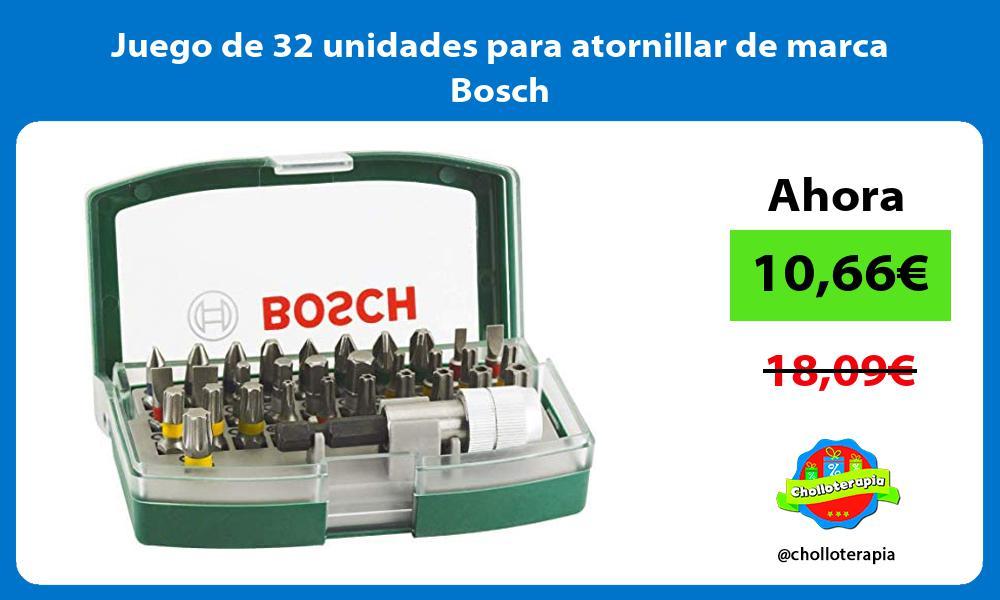 Juego de 32 unidades para atornillar de marca Bosch