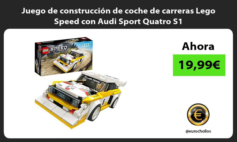Juego de construcción de coche de carreras Lego Speed con Audi Sport Quatro S1