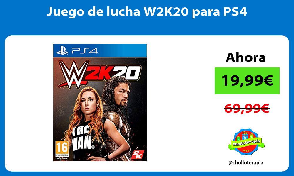 Juego de lucha W2K20 para PS4