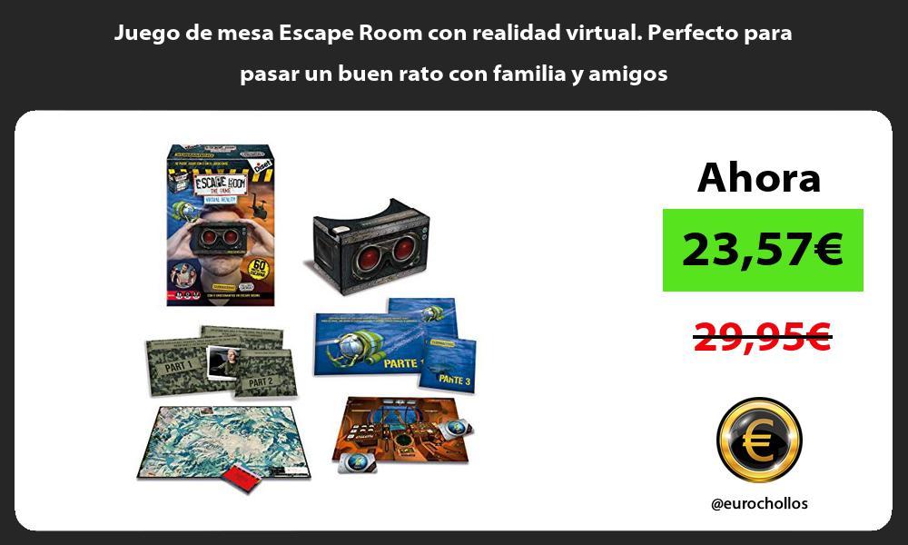 Juego de mesa Escape Room con realidad virtual Perfecto para pasar un buen rato con familia y amigos