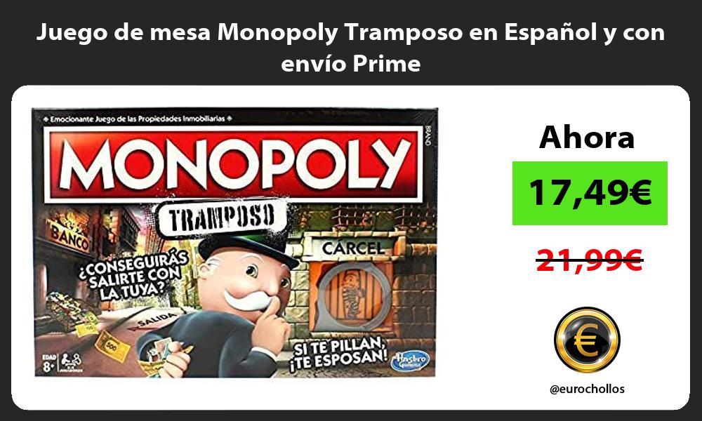 Juego de mesa Monopoly Tramposo en Español y con envío Prime