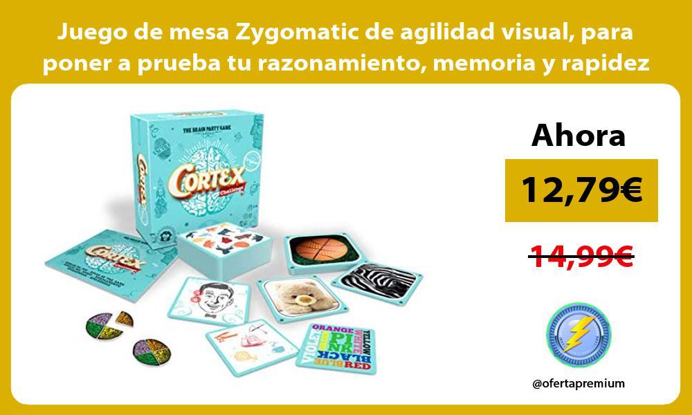 Juego de mesa Zygomatic de agilidad visual para poner a prueba tu razonamiento memoria y rapidez