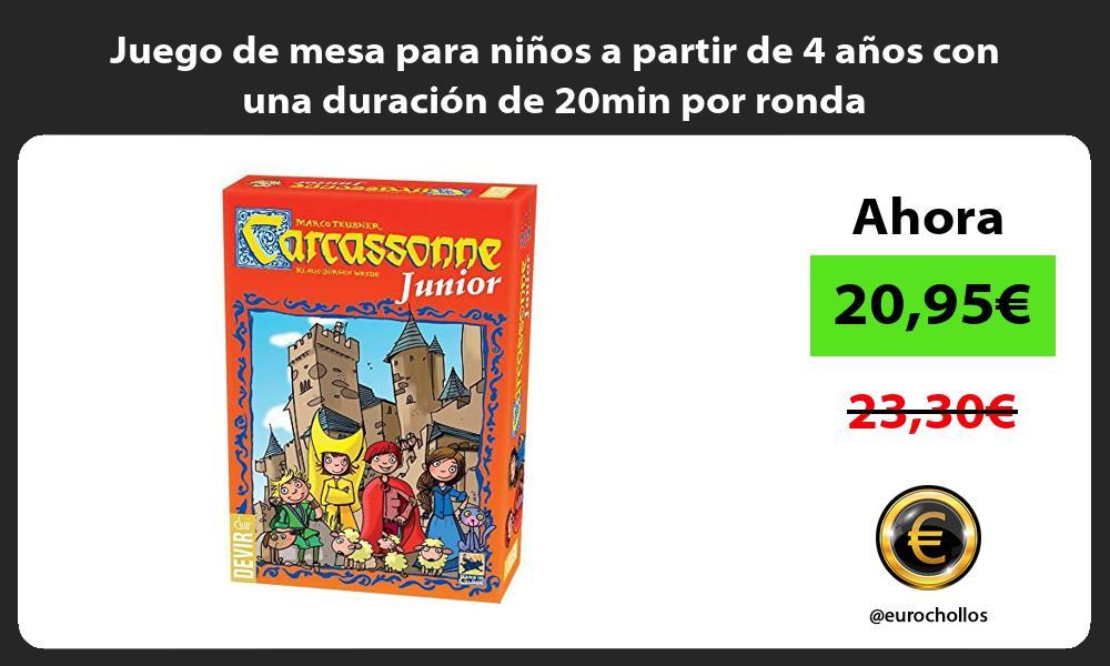 Juego de mesa para niños a partir de 4 años con una duración de 20min por ronda