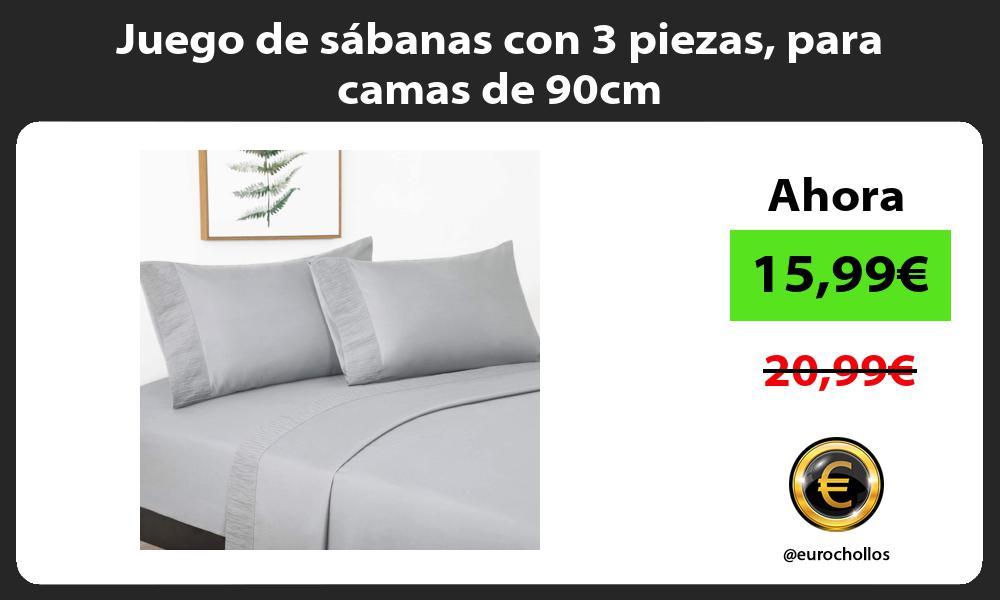 Juego de sábanas con 3 piezas para camas de 90cm