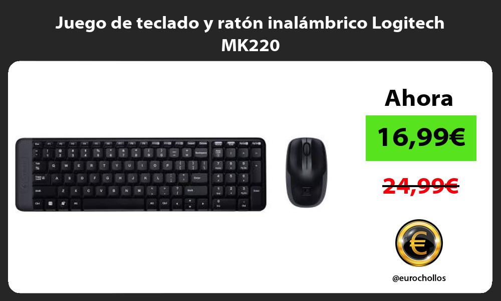Juego de teclado y ratón inalámbrico Logitech MK220