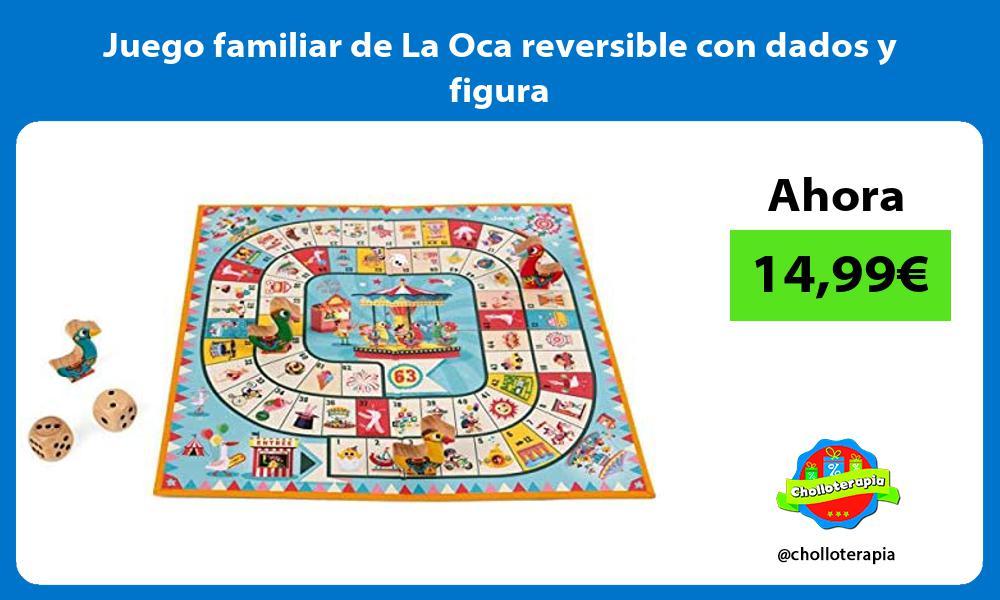 Juego familiar de La Oca reversible con dados y figura