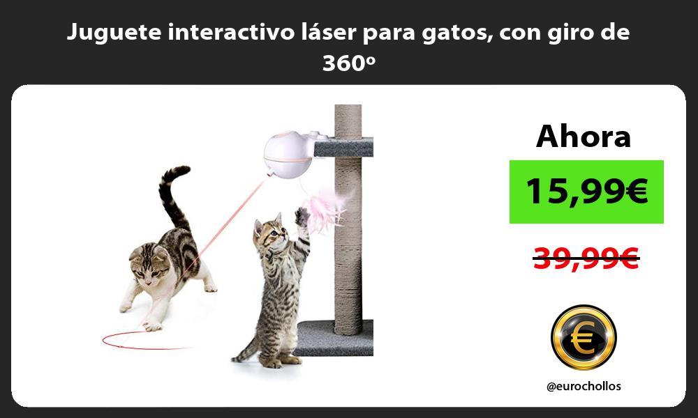 Juguete interactivo láser para gatos con giro de 360º
