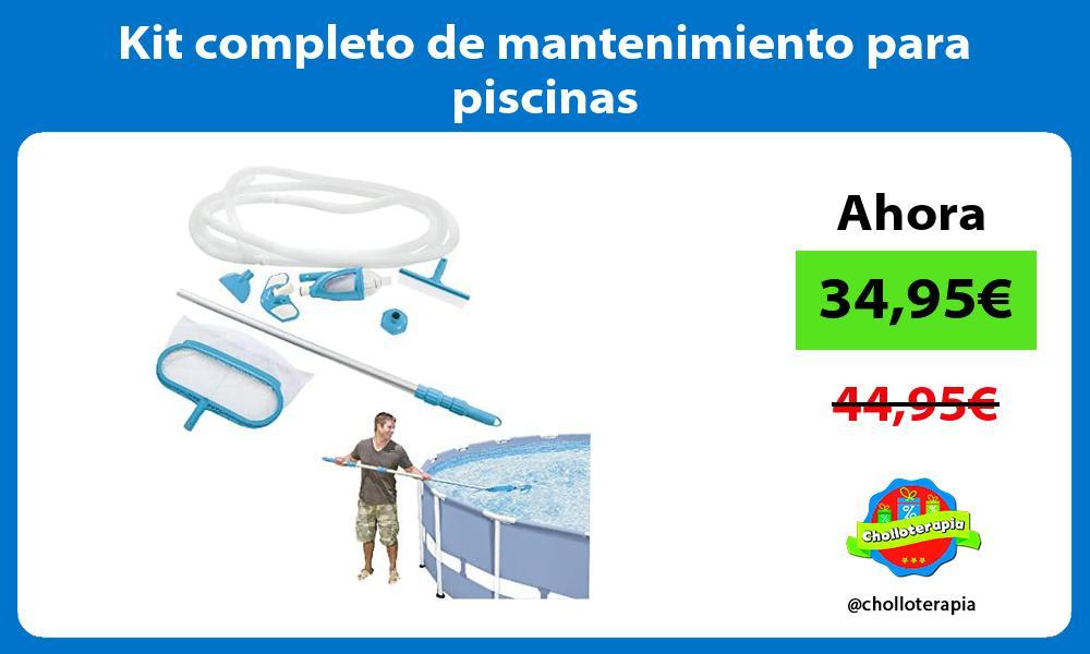 Kit completo de mantenimiento para piscinas