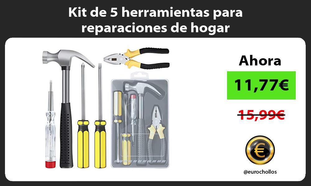 Kit de 5 herramientas para reparaciones de hogar