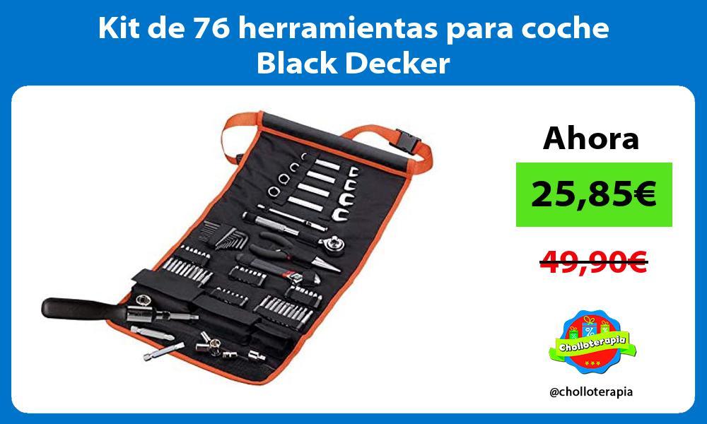 Kit de 76 herramientas para coche Black Decker