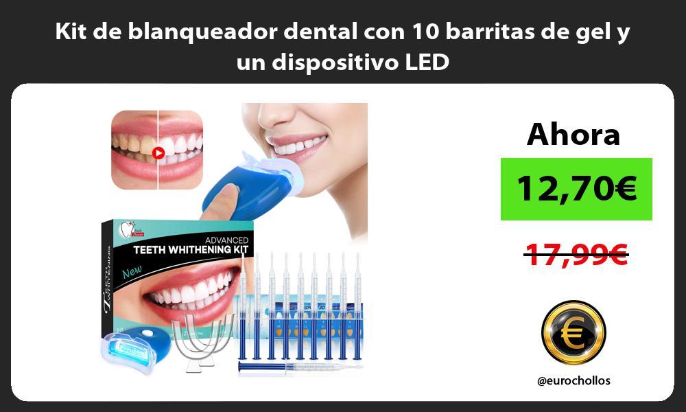 Kit de blanqueador dental con 10 barritas de gel y un dispositivo LED