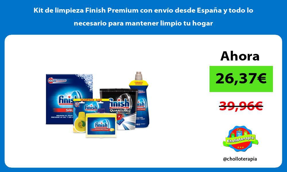 Kit de limpieza Finish Premium con envío desde España y todo lo necesario para mantener limpio tu hogar