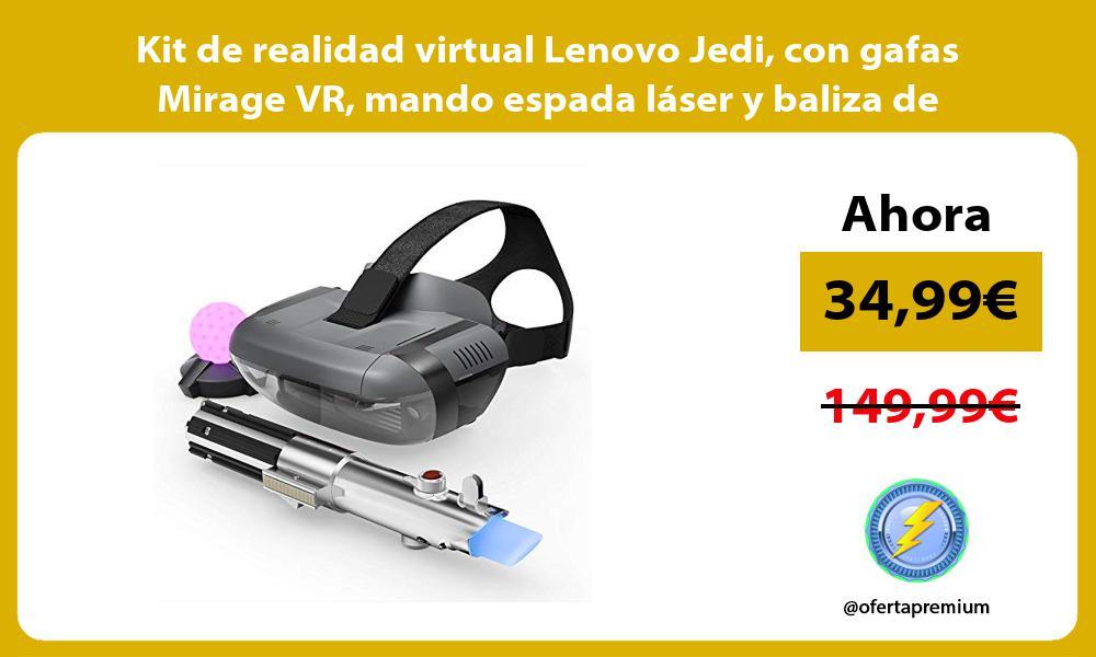 Kit de realidad virtual Lenovo Jedi con gafas Mirage VR mando espada láser y baliza de movimiento
