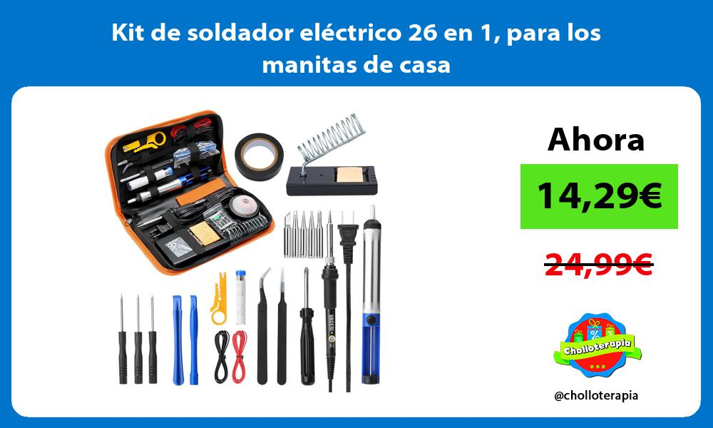Kit de soldador eléctrico 26 en 1 para los manitas de casa