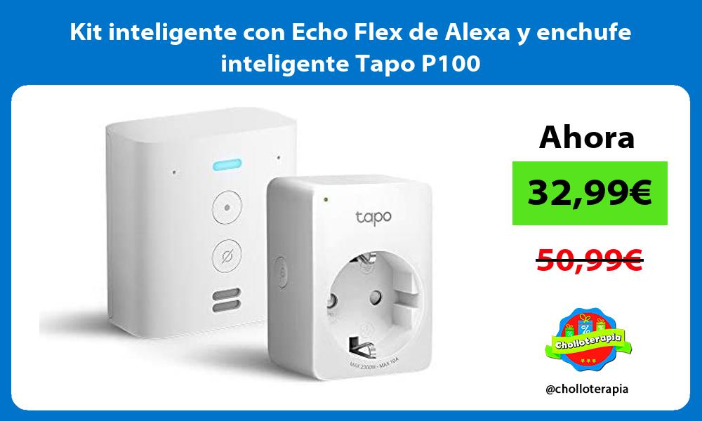 Kit inteligente con Echo Flex de Alexa y enchufe inteligente Tapo P100